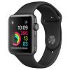 Apple Watch S1, 42mm viền nhôm, dây cao su màu đen