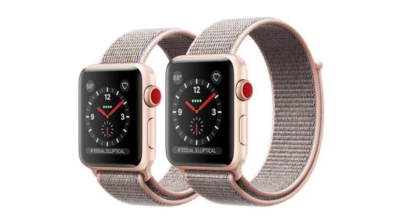 Đồng hồ Apple Watch 3 có gắn SIM - Màn hình Apple Watch 3 phiên bản 38 mm có kích thước 1.5 inch