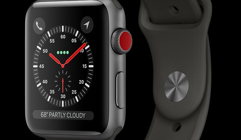 Đồng hồ Apple Watch 3 có gắn SIM - Màn hình lớn 1.65 inch, mặt đồng hồ cảm ứng trang bị mặt kính cường lực Sapphire crystal glass