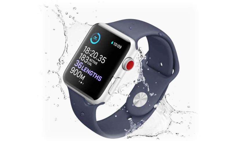Đồng hồ Apple Watch 3 có gắn SIM - Apple Watch 3 cũng trang bị khả năng chống nước tốt