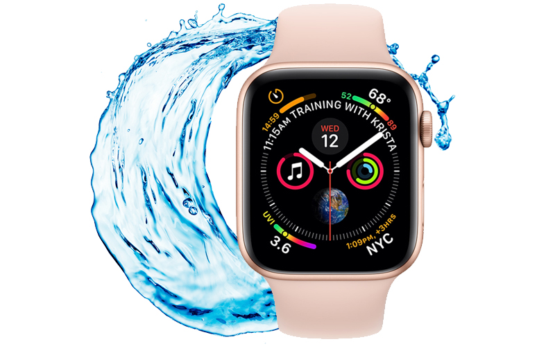 Apple Watch S4 GPS 40mm Viền Nhôm dây cao su màu hồng (MU682VN/A) - chống nước