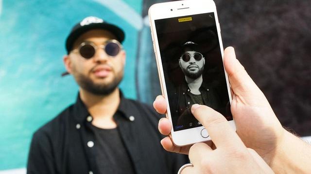 Chụp hình trên điện thoại iPhone 8